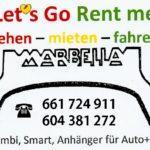 Lets Go Rent Me Logo - Autovermietung Mijas